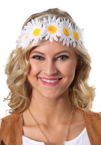 Corona de flores de margarita para mujer