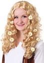 Peluca Flower Power para mujer