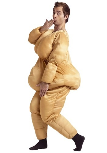 Disfraz de traje de gordo para adulto