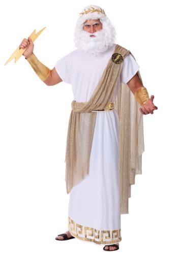 Disfraz de Zeus para hombre talla extra