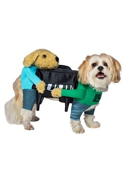 Disfraz para mascota de perros cargando un piano