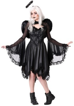 Disfraz de ángel oscuro clásico para mujer