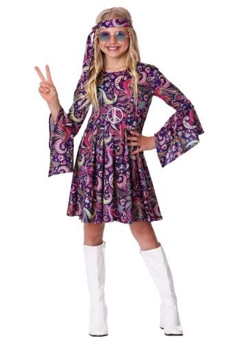 Disfraz para niña de Woodstock Hippie