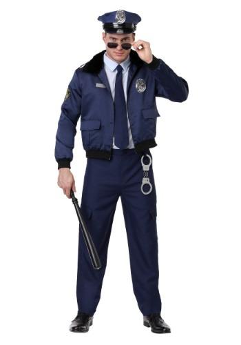 Disfraz de policía azul de lujo para hombres