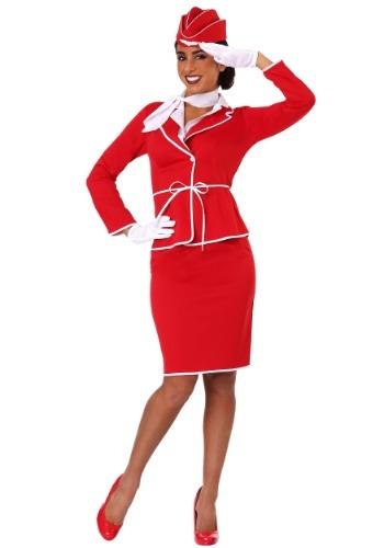Disfraz de asistente de vuelo de primera clase para mujer