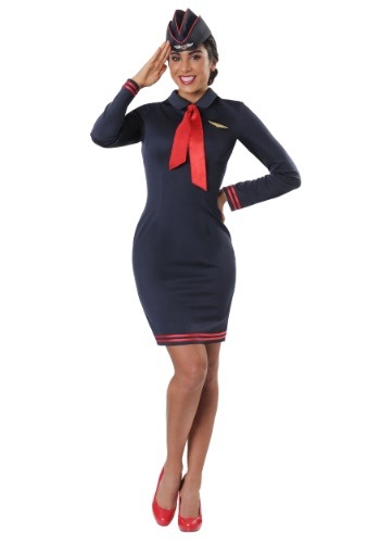 Talla grande Workin 'The Skies Flight Attendant Costume
