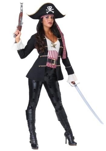 Disfraz de Capitán Crossbones pirata para mujer