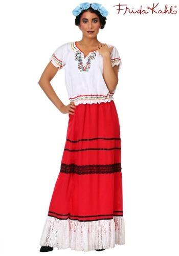 Disfraz para mujer de color rojo Frida Kahlo