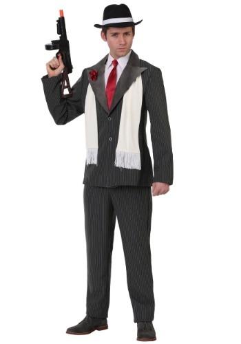 Disfraz de gángster despiadado talla extra para hombre
