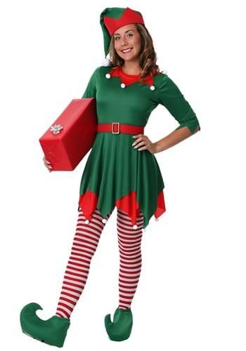 Disfraz de ayudante para de Santa para mujer