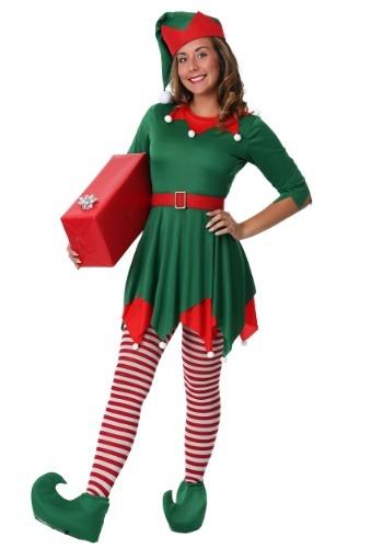 Disfraz de ayudante para de Santa para mujer talla extra