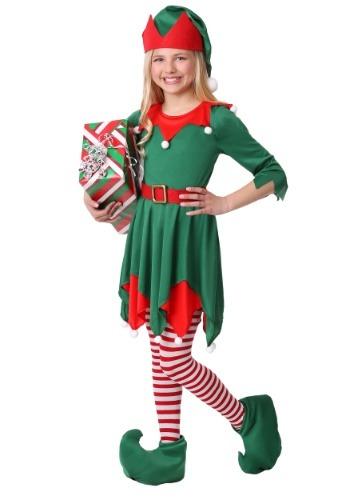 Disfraz de ayudante de Santa para niñas