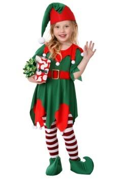 Disfraz de ayudante de Santa para niños pequeños