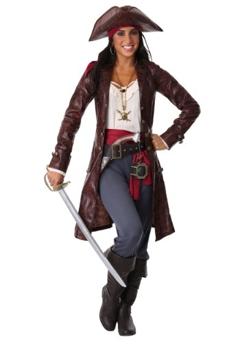 Disfraz para mujer linda pirata capitán