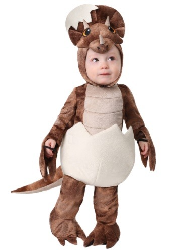 Traje de triceratops pequeño infantil