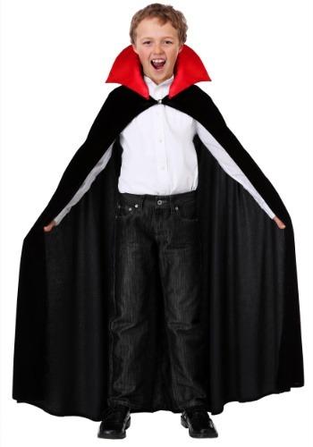 Capa de vampiro roja infantil