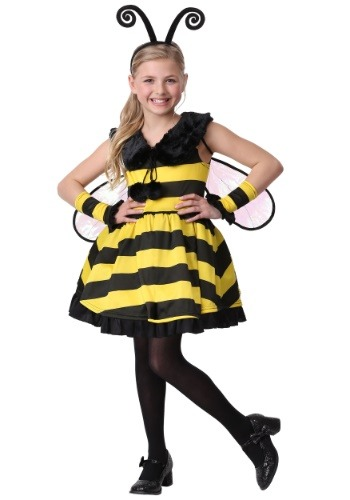 Disfraz de abeja de mangas Deluxe para niña