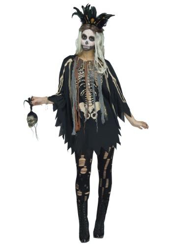 Disfraz de poncho de vudú