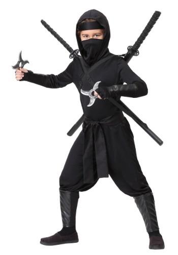 Traje de ninja Shinobi de sigilo infantil