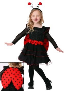 Disfraz de mariquita dulce para niña pequeña