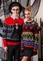 Suéter de Halloween para adulto monstruos de terror clásico