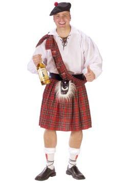 Disfraz de escocés con bebida