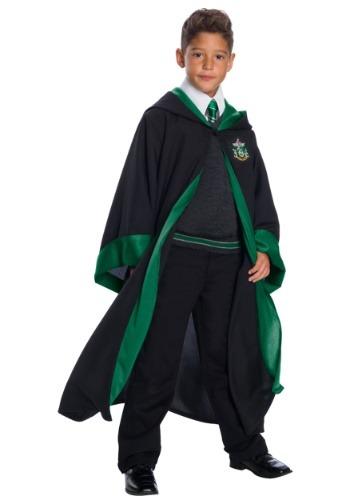 Disfraz infantil de estudiante de Slytherin deluxe