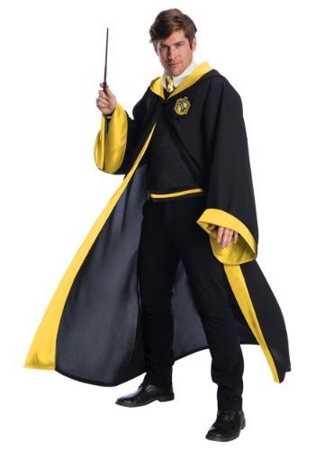 Disfraz de estudiante de Hufflepuff deluxe para adulto