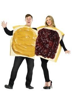 Disfraz de mantequilla de maní y mermelada para adulto