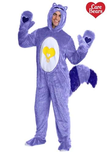 Disfraz de mapache brillante corazón para adultos Bears & Co