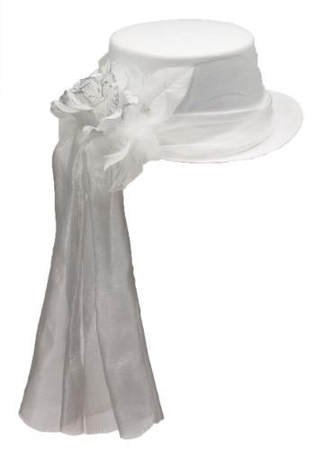 Sombrero de copa rosa fantasmal