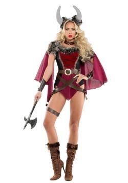 Disfraz de vikingo voluptuoso de mujer