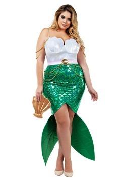 Disfraz para mujer de sirena de mar Alluring talla extra