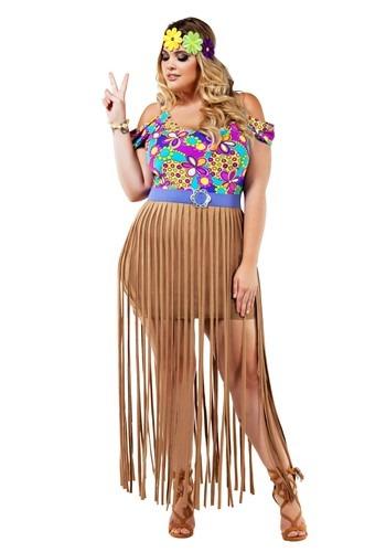 Disfraz para mujer Plus Size Hippie