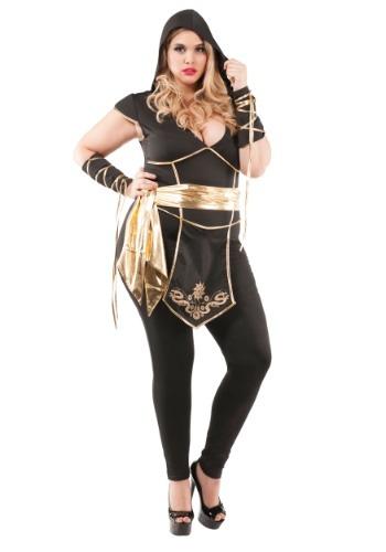Disfraz de asesino ninja de talla grande para mujer