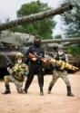 Disfraz de soldado con camuflaje para niños