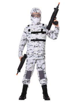 Disfraz de soldado de Camo de invierno para niño
