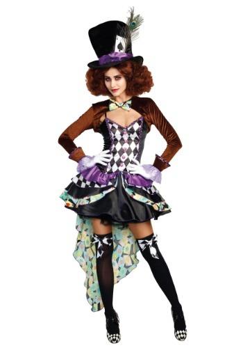 Disfraz de Raving Mad Hatter para mujer