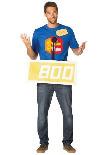 El precio es el traje amarillo concursante correcto