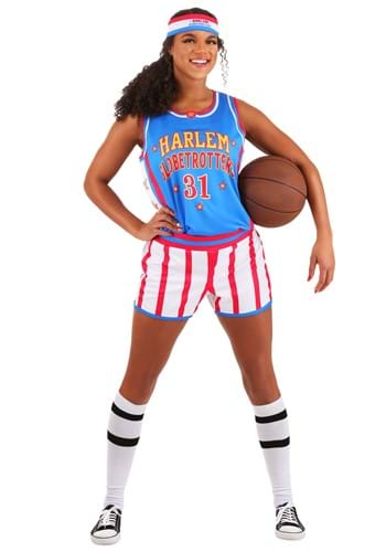 Disfraz de Harlem Globetrotters para mujer uniforme