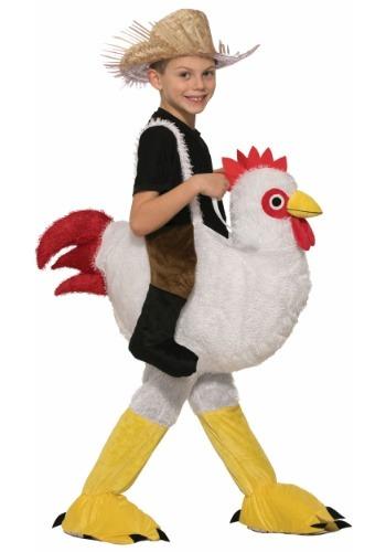 Montar un disfraz de pollo para niños