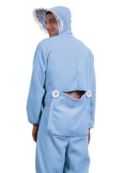 Disfraz de pijama azul de bebé para adulto