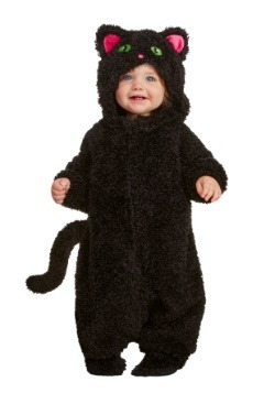 Traje de gato negro infantil