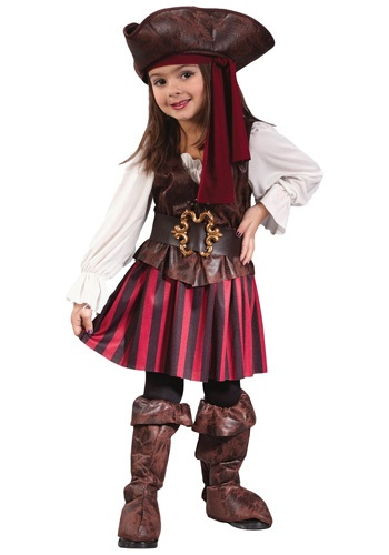 Disfraz de pirata del Caribe para niña pequeña