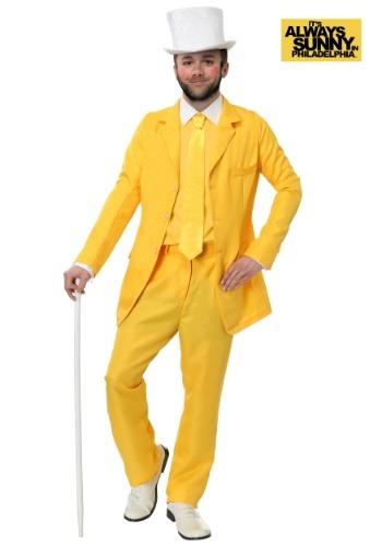 Traje amarillo Dayman Always Sunny talla extra