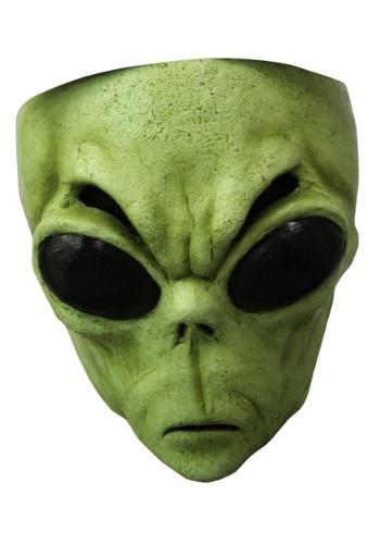 Máscara de alienígena verde