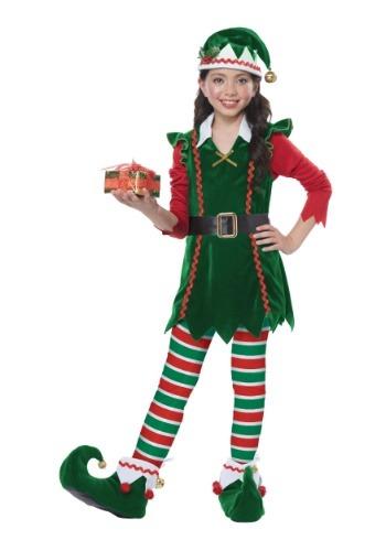 Disfraz de elfo festivo infantil