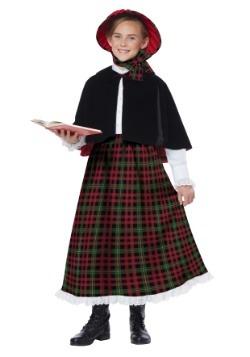 Disfraz de cantante de villancicos para niñas