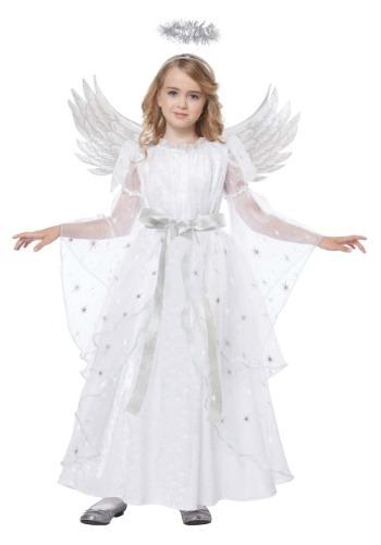 Disfraz de ángel de luz de estrellas para niñas