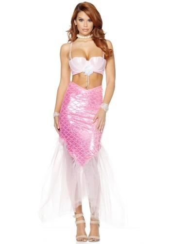 Disfraz de sirena rosa para mujer